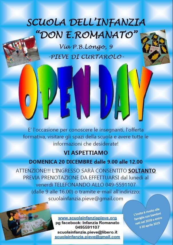 """Open Day Scuola dell'infanzia """"Don Romanato"""""""
